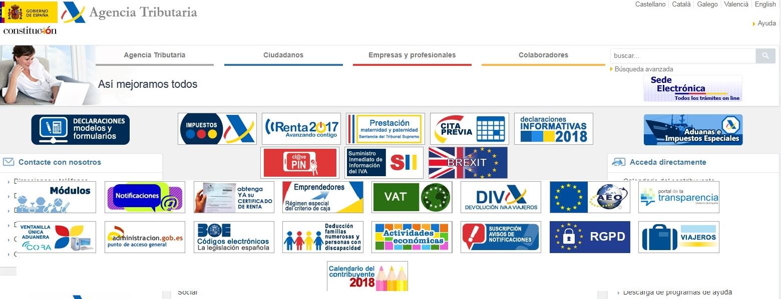 Agencia Tributaria La Agencia Tributaria y todas sus competencias cada vez más digitalizada.