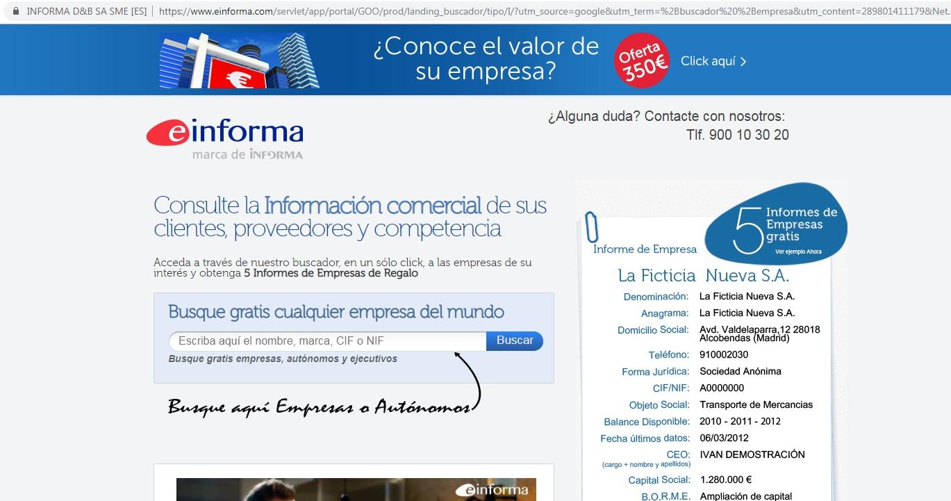 Información de Empresas Busque gratis cualquier empresa en la mayor base de datos privada de España relacionada con este tipo de información sobre las compañías.