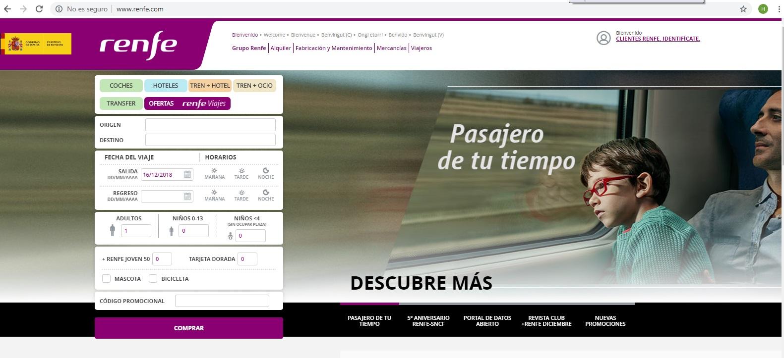 Lineas de Tren (Renfe) Viajes a Toda España desde la estación ferroviaria de Granada.