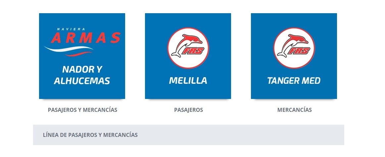 Ferries -Lineas regulares Las Lineas de Ferries regulares que operan actualmente desde el  Puerto de Motril.