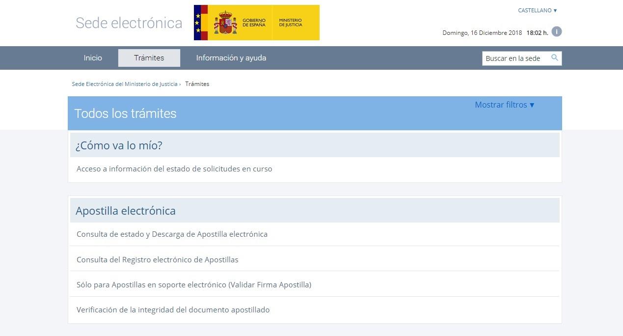 Registro Civil (Ministerio Justicia) Sede Electrónica del Ministerio de Justicia Trámites