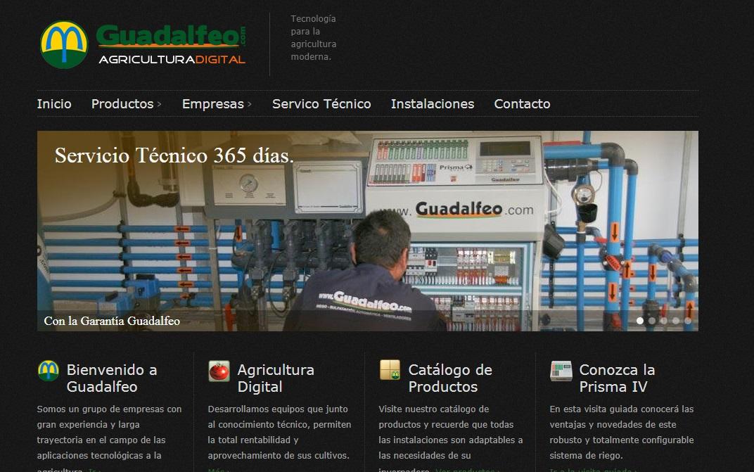 Sistemas Guadalfeo Técnologia para la agricultura moderna, sistemas de riego y depuración de aguas.