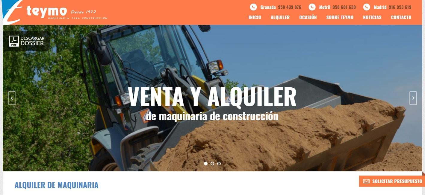 TEYMO (Maquinaria para la Construcción) Teymo empresa dedicada al alquiler y venta de maquinarias y herramientas para la construcción.
